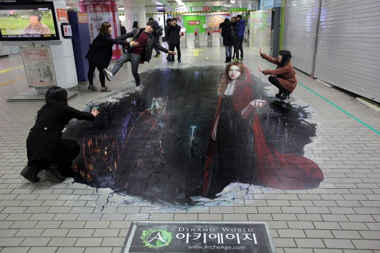 Реклама Archeage в корейском метро