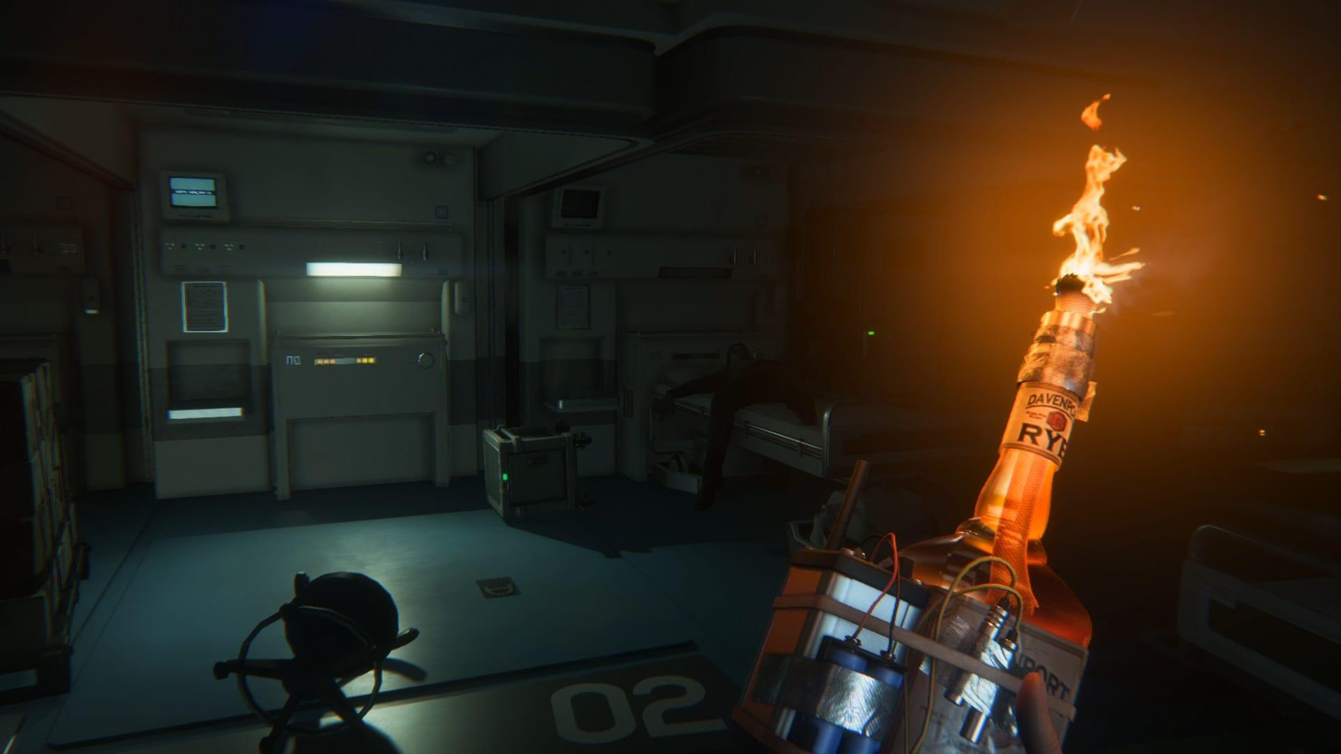 Коктейль Молотова в Alien: Isolation