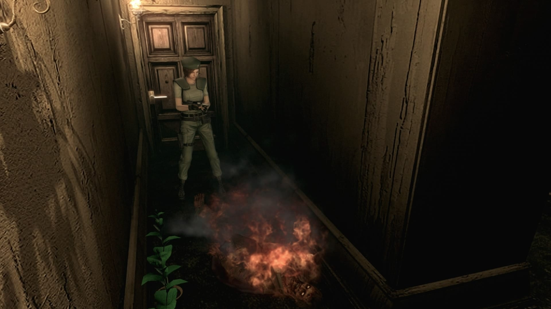 Resident Evil HD Burn Zombies