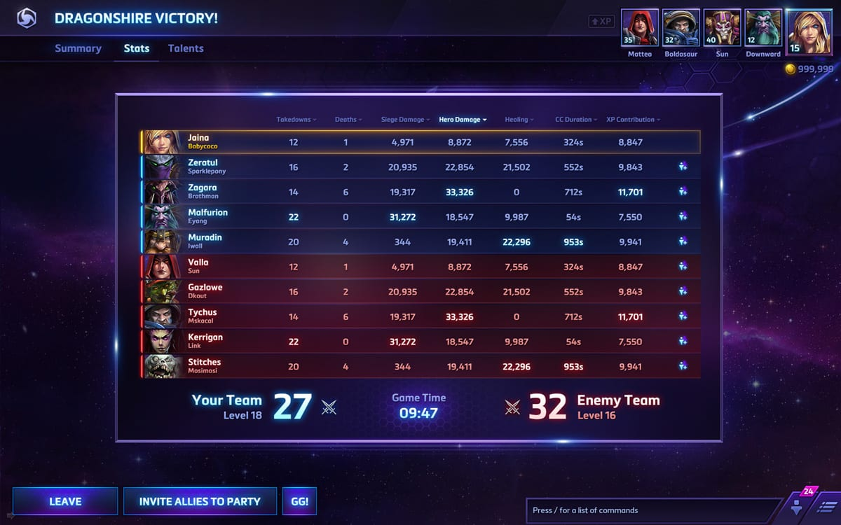 new battlestats hots