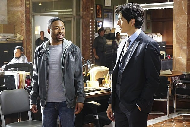 RUSH HOUR, a reimagining of the hit feature film franchise, is CBS's new buddy-cop drama about maverick LAPD detective Carter (Justin Hires, left) and by-the-book Hong Kong detective and master martial artist Lee (Jon Foo), who knock heads when they are forced to partner together in Los Angeles. Photo: Richard Cartwright/CBS ©2015 CBS Broadcasting, Inc. All Rights Reserved