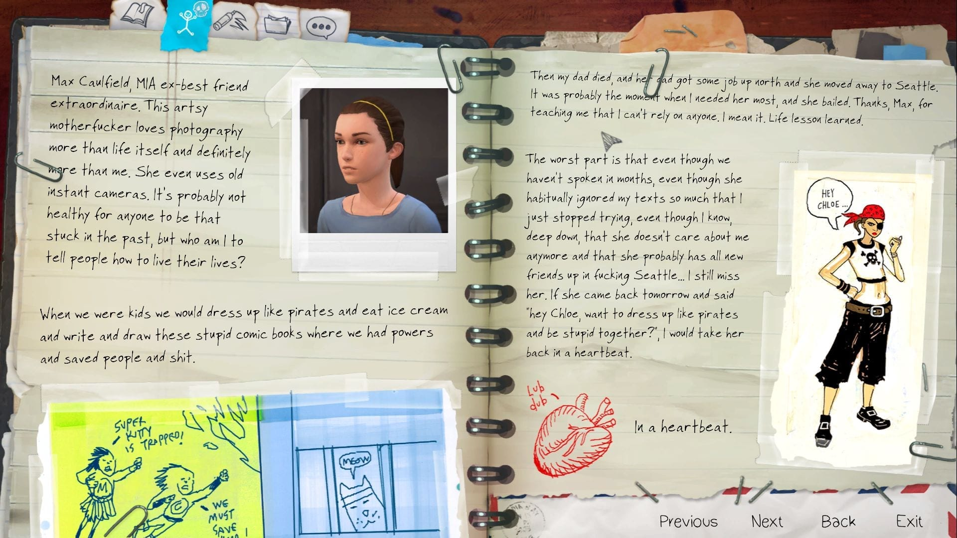 Life is Strange Before the Storm Diary