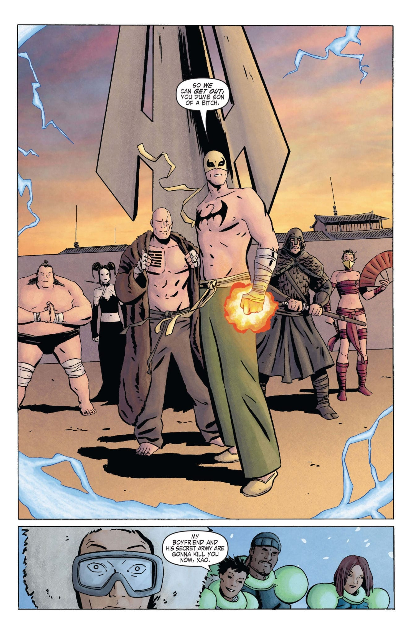 The Immortal Iron Fist comic page