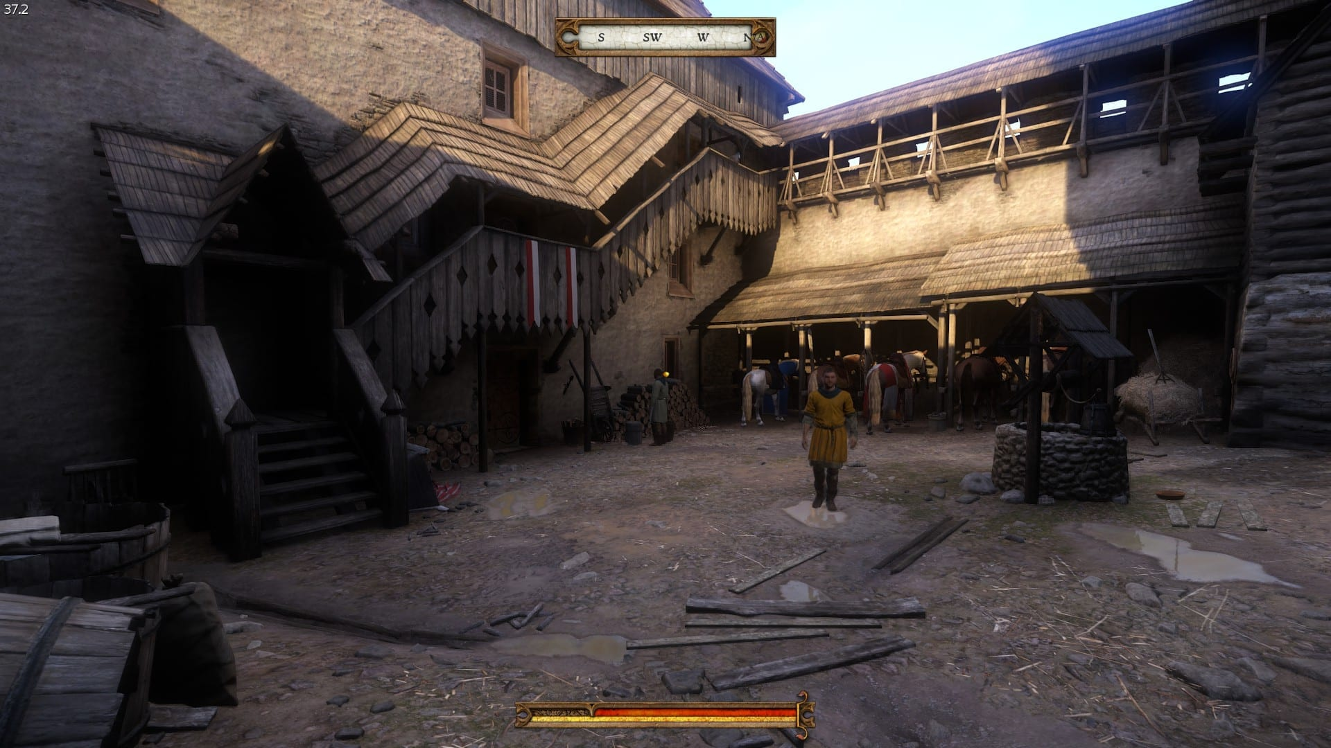 Kingdom Come: Deliverance Внутренний двор крепости