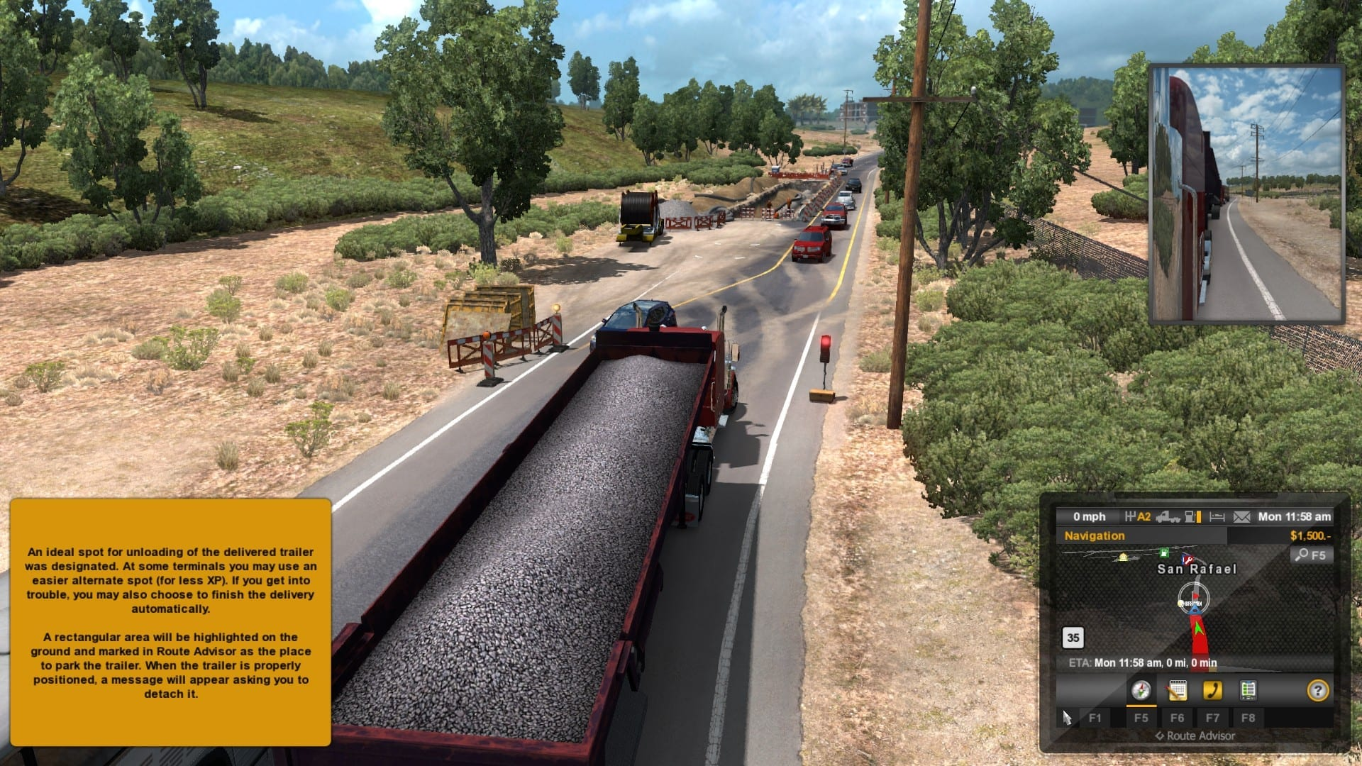 American Truck Simulator Road works