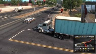 American Truck simulator intersection