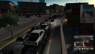 American Truck Simulator Cars towing